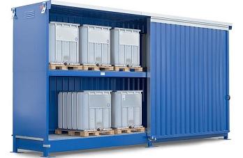 Gefahrstoffschränke und Container